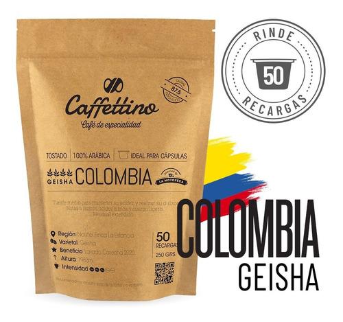 Imagen 1 de 9 de ¼kg Café De Especialidad Colombia Geisha (nespresso 50u)