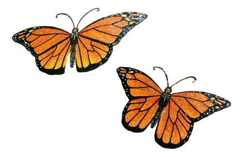Imagen 1 de 12 de Figura Mosaico Mariposa De 50 Cms. Para Alberca,muros O Baño