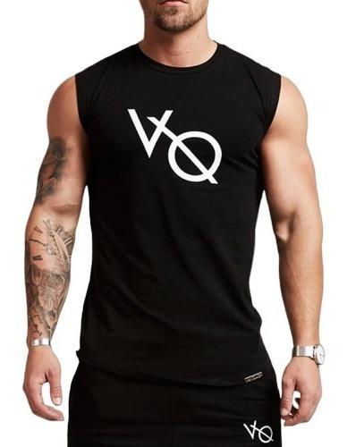 Camiseta Fitness Para Hombre Tela Spandex Negro Estampado