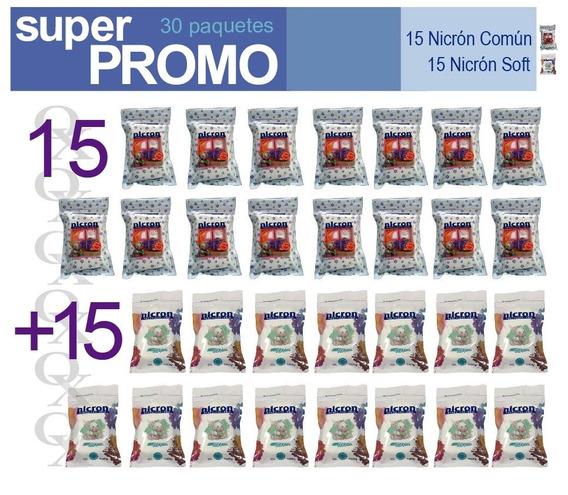 Porcelana Fria Nicron 15 Soft + 15 Nicron (30 Paquetes)
