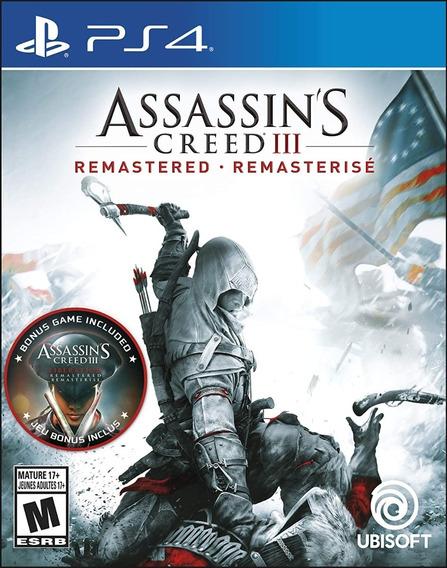 Assassins Creed Iii 3 Ps4 Midia Fisica Lacrado Em Português