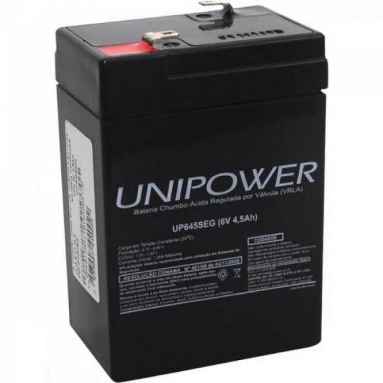 Bateria Selada Up645seg 6v/4,5ah Unipower