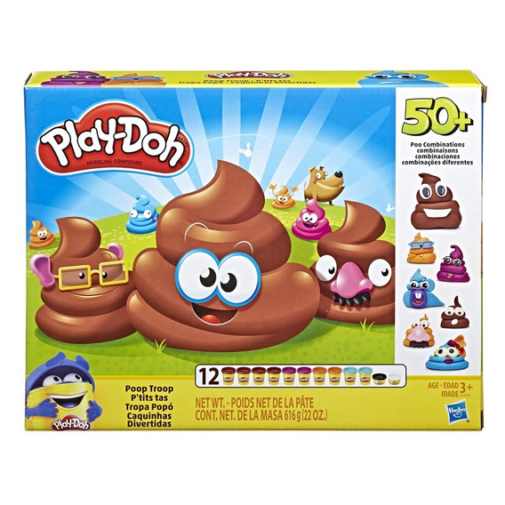 Massinha De Modelar Playdoh Caquinhas Divertidas 5255