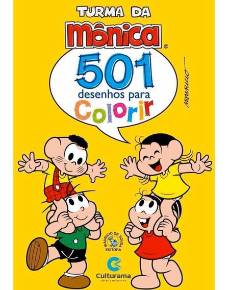 Livro Para Colorir Infantil 501 Desenhos Turma Da Mônica