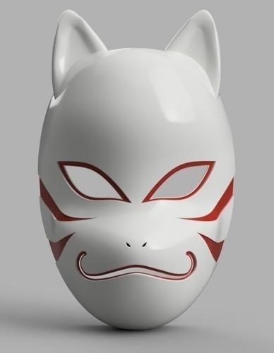 Archivos Stl De Impresión 3d - Mascara Kakashi Anbu Naruto