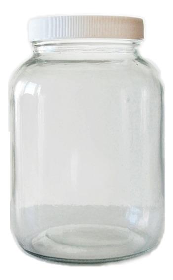 6 Frascos Vidrio Gigante 3000 Cc 3 Litros C Tapa Conservas