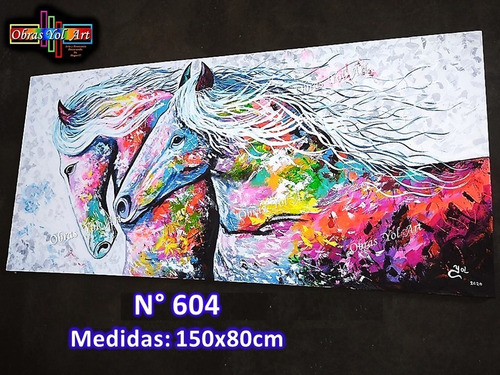 Cuadros Modernos,caballos, Obras Yol Art