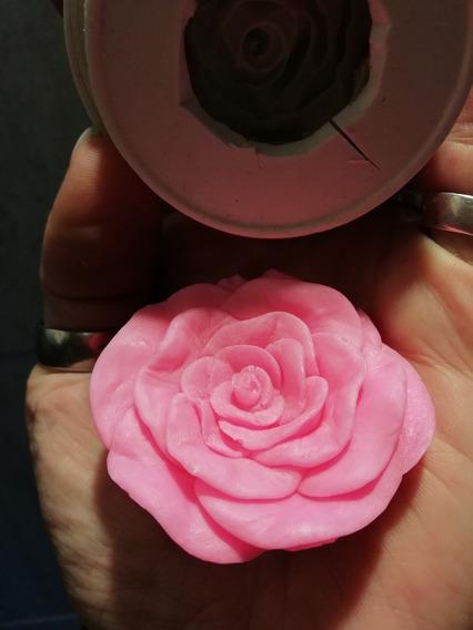 Molde Silicona Rosa 4,5 Cm. Molde Flor Artística Jabón, Vela