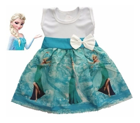 Vestido Infantil Festa Frozen - Elza Roupa/fantasia