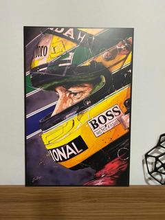 Cuadro Ayrton Senna F1 Mclaren 40x60cm Vinil