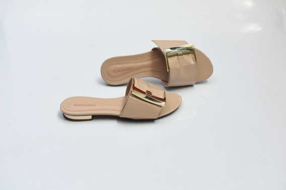 Sandália Flat Nude Bistrô Fivela Ref-363849