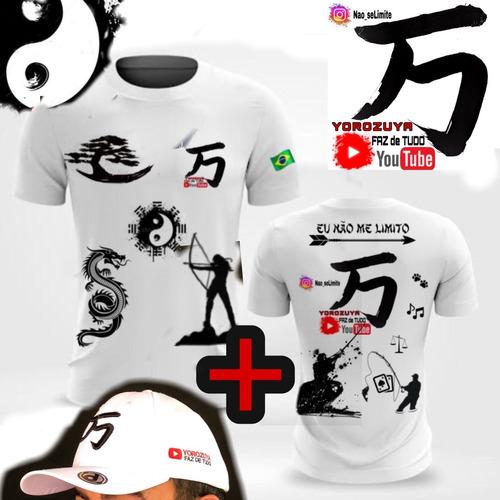 Imagem 1 de 9 de Kit Camisa +boné Branco Tradicional Yorozuya+ Frete Grátis