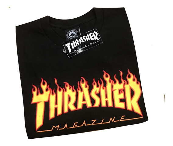 Remera Thrasher Orig Flame Classic. Envios A Todo El País.