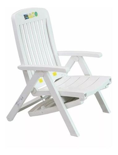 Espreguiçadeira Cadeira Com Apoio Braço Dobrável Branca