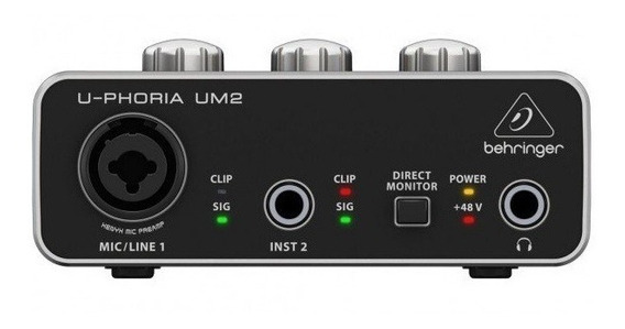 Behringer Interface Para Gravação De Áudio U-phoria Um2 -usb