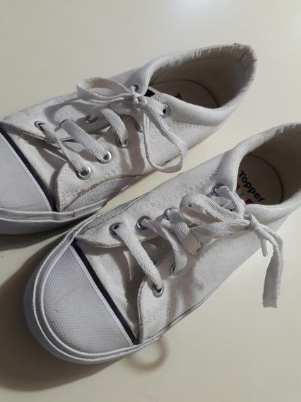 Zapatillas Topper Lona Blanca. Número 36
