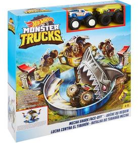 Hot Wheels Monster Trucks Batalha Do Tubarão Mecha - Mattel