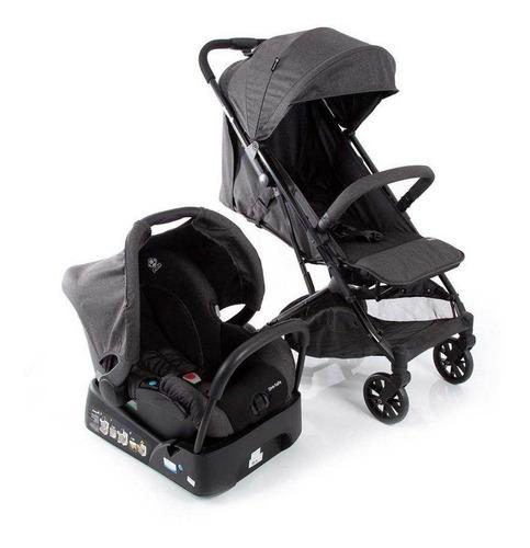Carrinho Com Bebê Conforto Travel System Skill Trio Black