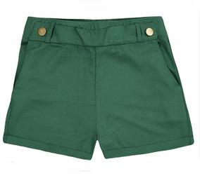 Short Fem. Tecido Sarjado De Viscose Hering - 324hbon Verde