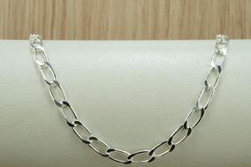 Pulseira Cadeado 4 Mm X 21,5 Cm (m4) Prata 925