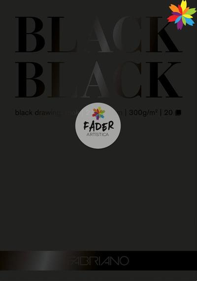 Block Fabriano Black Black A3 300grs Hoja Negra Barrio Norte