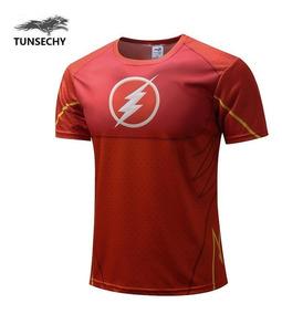 Camisa Camiseta Flash Super Herois