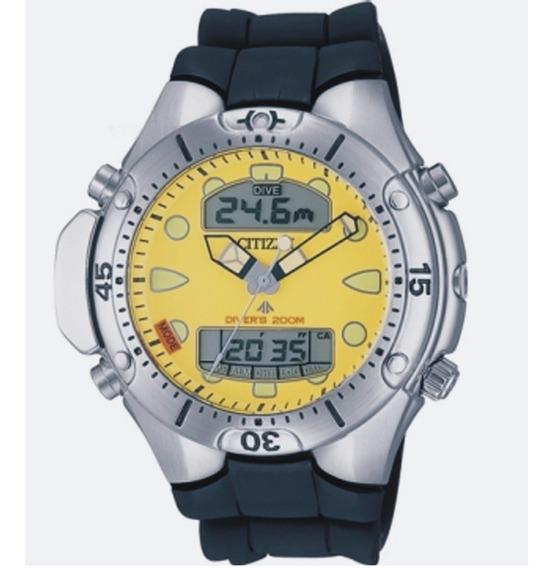 Relógio Citizen Masculino Aqualand Jp1060-01x Aço Amarelo Of