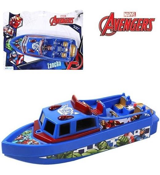 Barco Lancha Vingadores A Pilha Brinquedo Para Piscina
