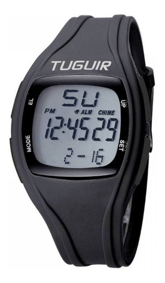 Relógio Unissex Tuguir Digital Tg1602 Preto E Branco