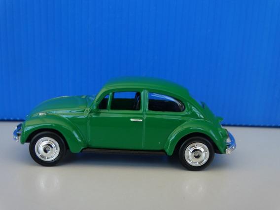 Volkswagen Beetle Fusca Verde - Welly Esc Aprox 1:64 Loose