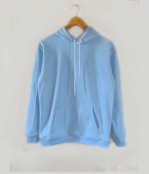 Sudadera/hoodie Liso Color Cielo