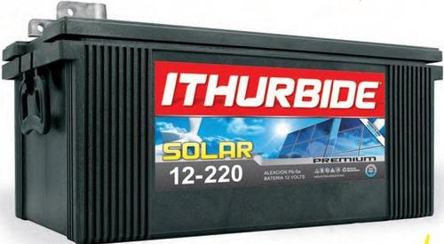 Imagen 1 de 2 de Batería Ithurbide Solar Premium 12v 220ah
