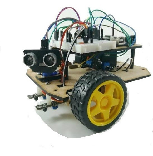Kit Seguidor De Linea  Evasor Obstaculos Robot Movil Arduino