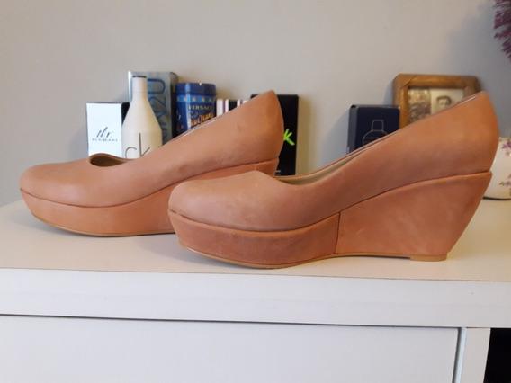 Zapatos Con Plataforma Color Salmon Nro 39 Basement