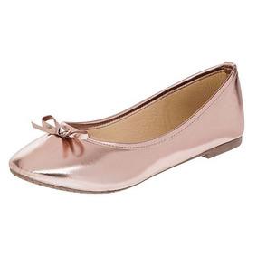 Zapato De Piso Flats Dama Sexy Girl 3004 Oro Rosa 22-26 T3