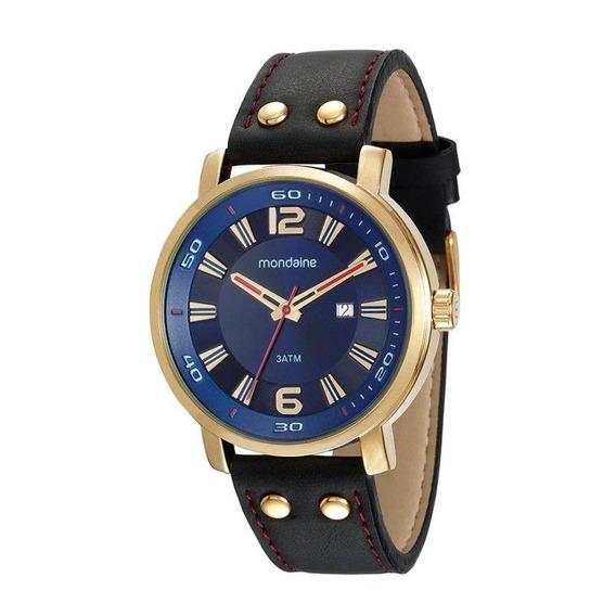 Relógio Mondaine Masculino Dourado 53591gpmvdh2 Casual