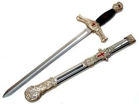 Espada Maçonica Cavaleiro Templário Medieval - Maçonaria