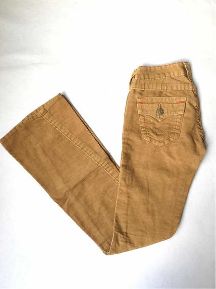 Jeans True Religion De Pana Beige Rectos Originales