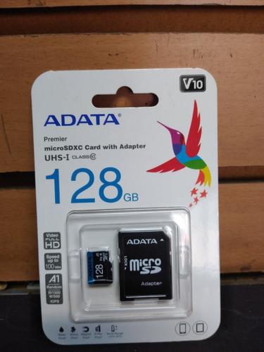 Memoria Microsdxc 128gb Adata Clase V10 Uhs-i Videofullhd A1