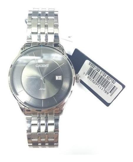 Relógio Orient Masculino Slim Mbss1293 G1sx Aço De Vltrine
