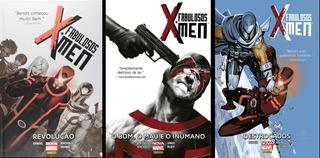 Fabulosos X-men Marvel Lote C/ 3 Hq Brian Michael Bendis