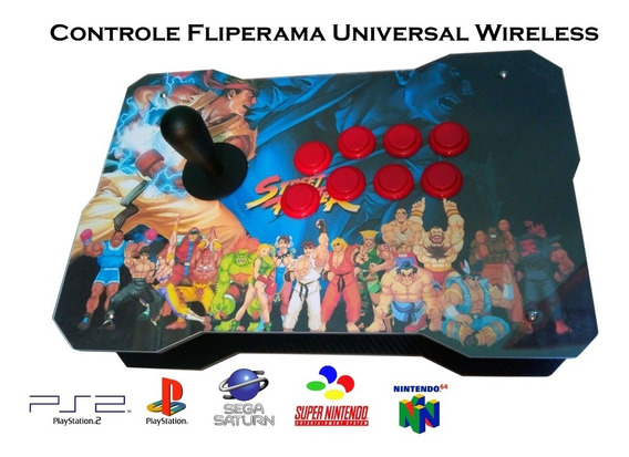 Controle Sem Fio Wireless Universal Retrogames