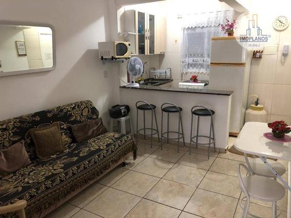 Kitão Dividia Com Dormitório À Venda, 30 M² Por R$ 115.000 - Campo Da Aviação - Praia Grande/sp - Kn0677