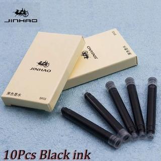 Jinhao Cartuchos Pluma Estilografica 10 Pzas Negro Ln-019n