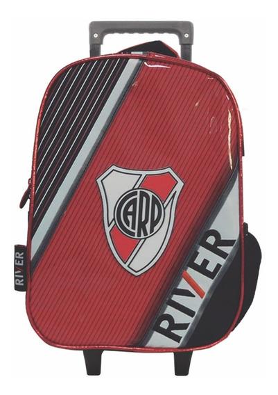 Mochila Con Carro Jardin 12p Futbol River Plate Mundo Manias