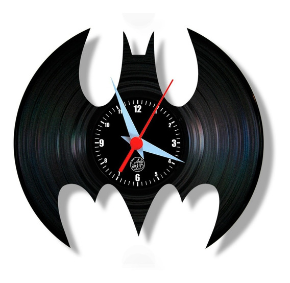Batman Morcego Relógio Parede Vinil Geek Lp Disco Arte