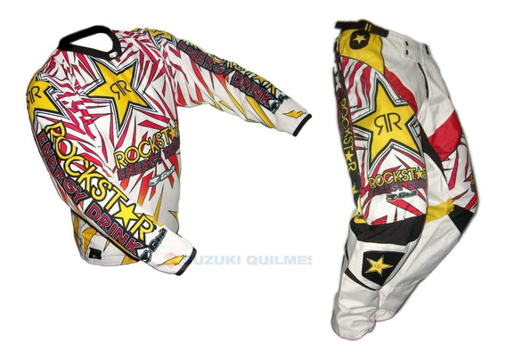 Conjunto Motocross Pantalon Y Buzo Rockstar Talles Grandes