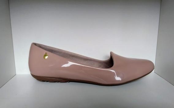 Sapato Sapatilha Feminina Verniz Forrado E Bem Confortável