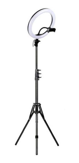 Kit Iluminador Completo Ring Light 26cm Tripé 2m L/continua