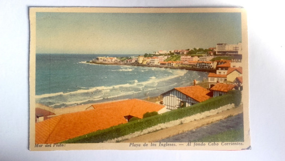 Antigua Postal De Mar Del Plata (playa De Los Ingleses)